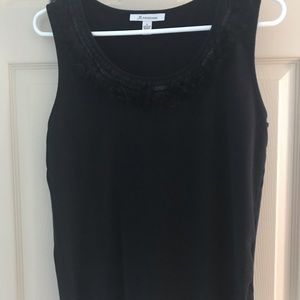 Black tank with pretty neckline